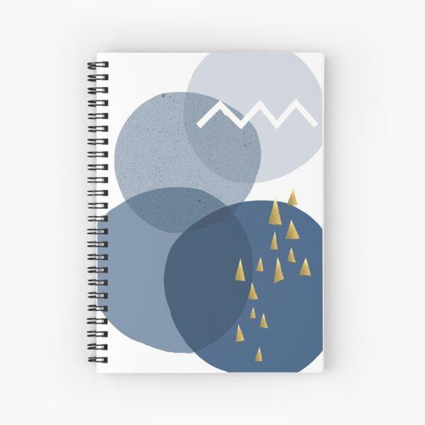 Minimalist Mid Century Abstract Spiral Notebook