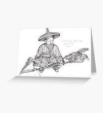 Cormorant Fisherman Greeting Card