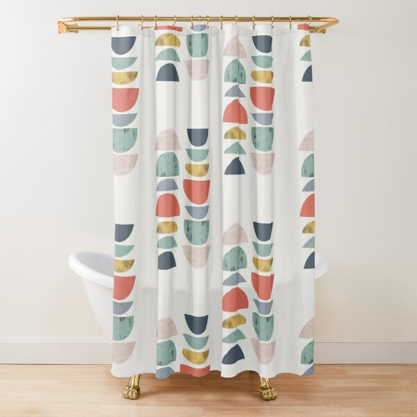 Mid Century Retro Shower Curtain