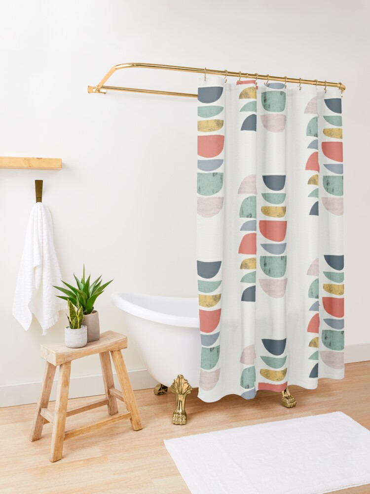 Alternate view of Mid Century Retro Shower Curtain