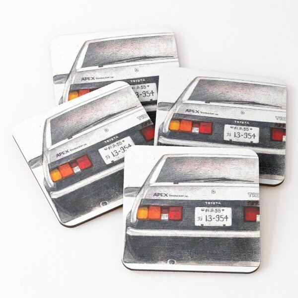 AE86 Hachiroku InitialD Coasters (Set of 4)