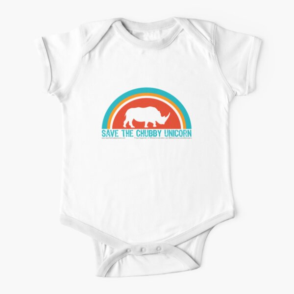 Save The Chubby Unicorn Arches Short Sleeve Baby One-Piece