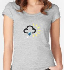 The weather series - Wintery weather Women's Fitted Scoop T-Shirt
