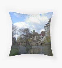 Walking in Strasbourg Throw Pillow