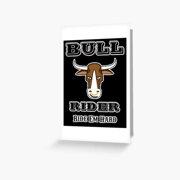 Bull Rider Alt. Version Greeting Card