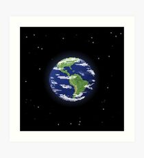 Pixel Earth Art Print
