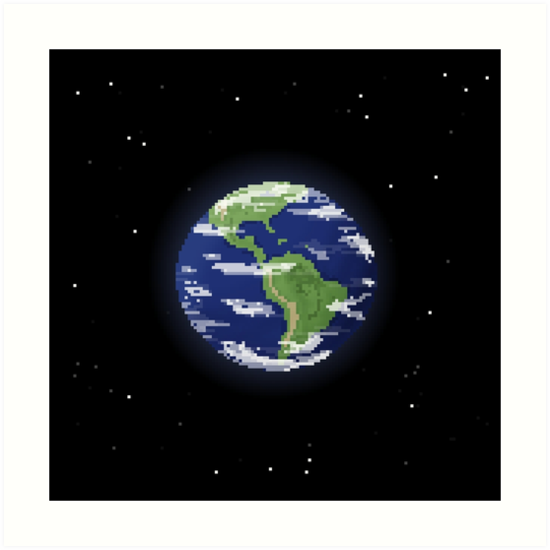 Pixel Earth by pixelfaces