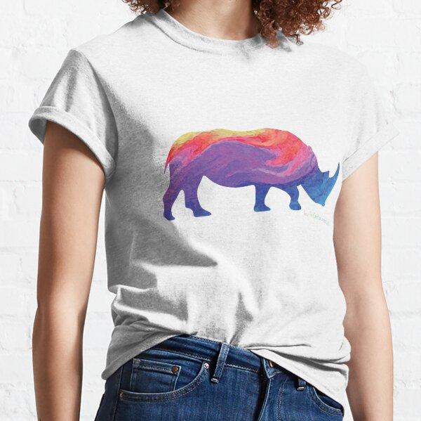 Save The Chubby Unicorn Rainbow Classic T-Shirt