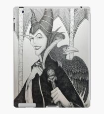 Maleficent - Pen and Ink iPad Case/Skin