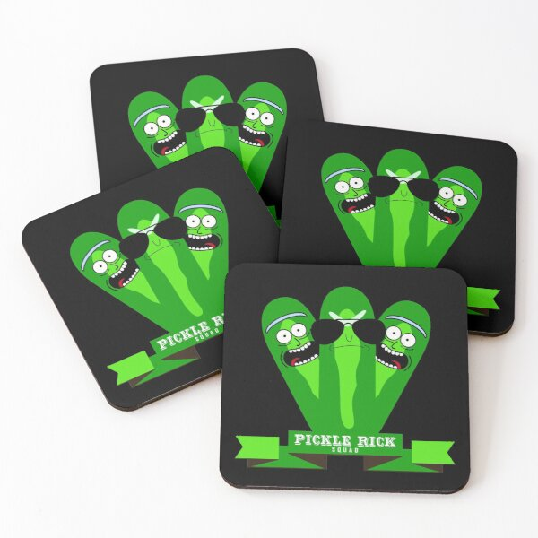 Pickle Rick Squad Coasters (Set of 4)