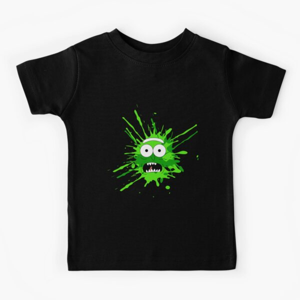 Pickle Rick Face Kids T-Shirt