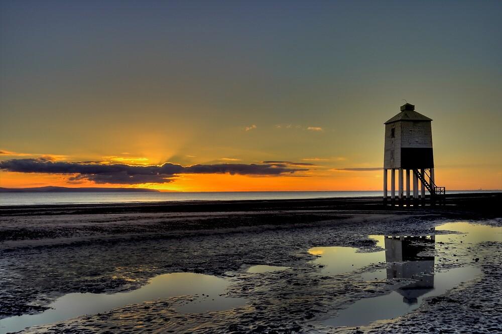 Burnham On Sea Lighthouse at Sunset by Sjthomas