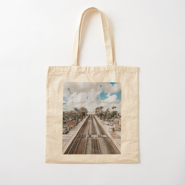 Fullerton Train Station Cotton Tote Bag