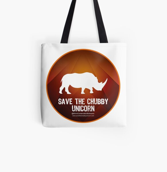 Save The Chubby Unicorn at Sunset All Over Print Tote Bag