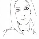 gillian anderson pen out line by hmmmbates