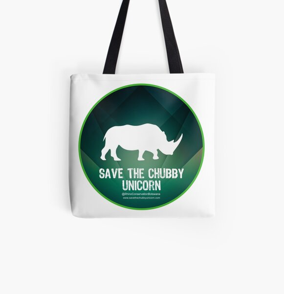 Save The Chubby Unicorn at Dawn All Over Print Tote Bag