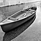 Waiting For A Passenger - Black and White Reflections by Jane Neill-Hancock