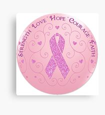 Breast Cancer Pink Ribbon Of Hope Canvas Print