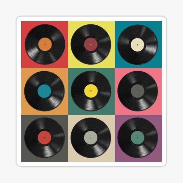 Schallplatte Sticker