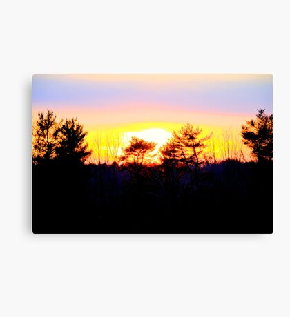 A Powerful Sunset Canvas Print
