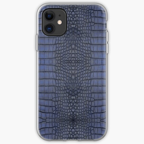 Cobalt Alligator Skin iPhone Soft Case