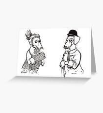 Stately Sausages Greeting Card