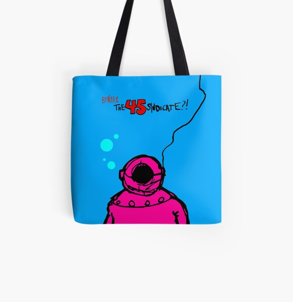 """The 45 Syndicate - """"Diver"""" All Over Print Tote Bag"""