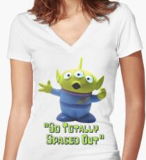 toy story crossover  Women's Fitted V-Neck T-Shirt