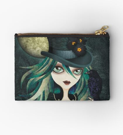 Raven's Moon Zipper Pouch