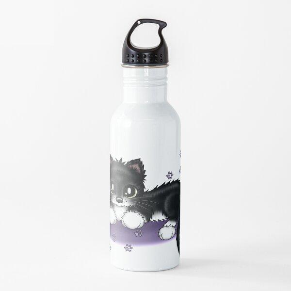 Katze schwarz weiß Trinkflasche