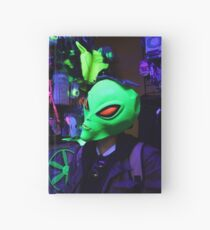 alien abduction glowing photo Hardcover Journal