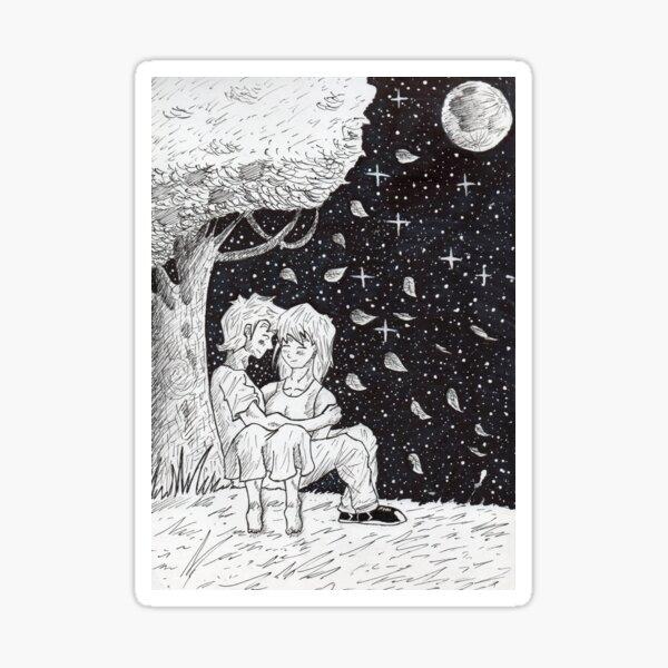 Sketch romantic Sticker