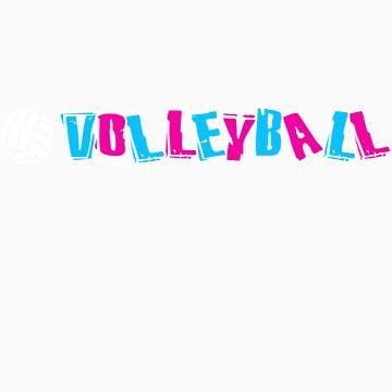 Neon Volleyball by gregbukovatz