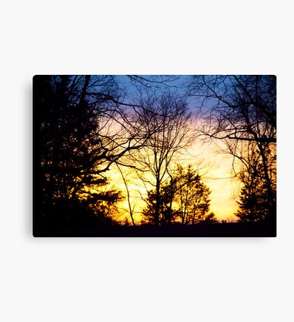 Layers Of A Sunset Canvas Print