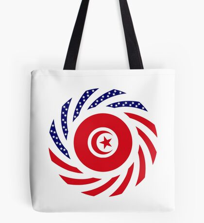 Tunisian American Multinational Patriot Flag Series Tote Bag
