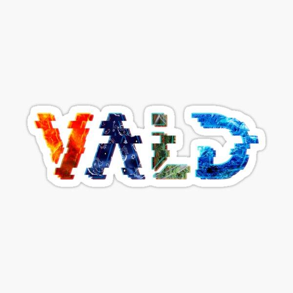 """""""vald"""" en écriture abstraite glichée Sticker"""