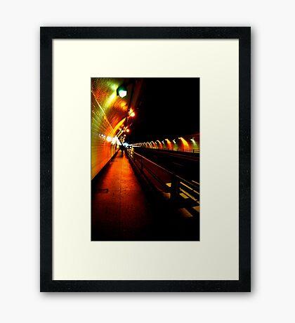 Stockton Street Tunnel Framed Print