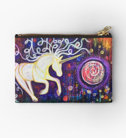 Into the Vortex - Unicorn Spiral Inner Power Painting Studio Pouch