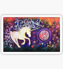 Into the Vortex - Unicorn Spiral Inner Power Painting Sticker
