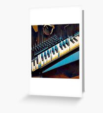 Glitched Keyboards Greeting Card