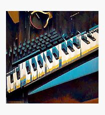 Glitched Keyboards Photographic Print