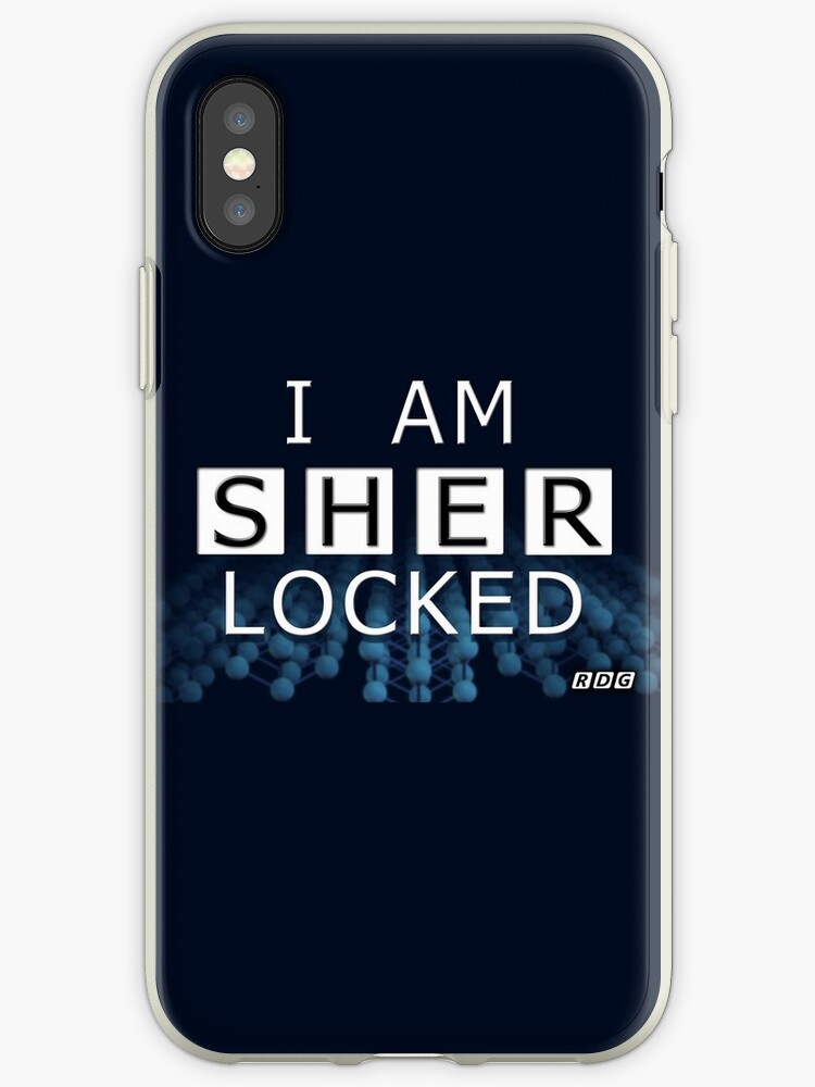 """SHERLOCKED - I AM SHER LOCKED"" iPhone Cases & Covers by ... I Am Sherlocked Facebook Cover"