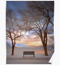 The Bench in the Winter Poster