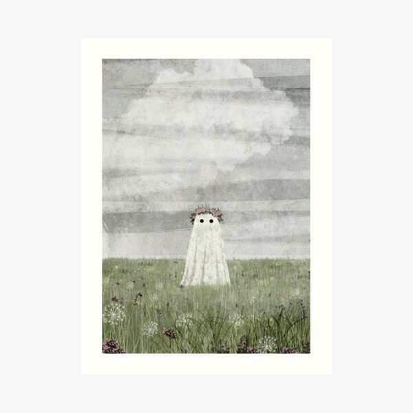 There's A Ghost in The Meadow Summer  Art Print