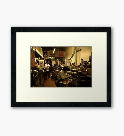 Golden Gate Fortune Cookie Factory Framed Print