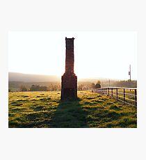Abandoned Chimney At Sunrise Photographic Print