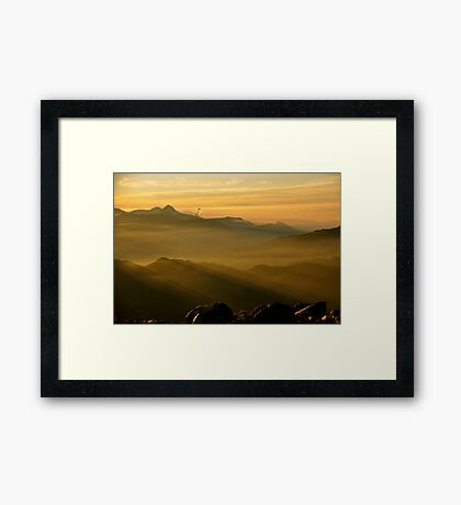 Sunrise on Tajumulco II Framed Print
