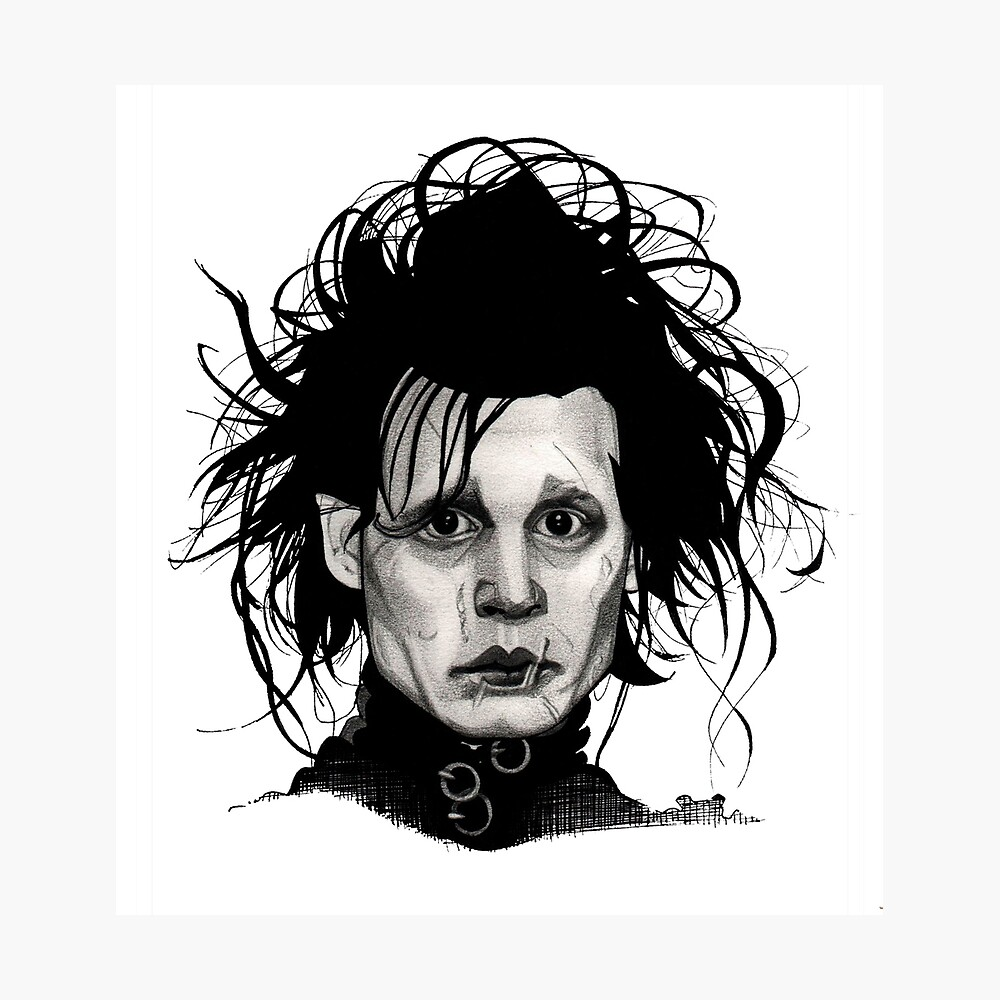 Tribute to Edward Scissorhands *RE-EDITED Photographic Print