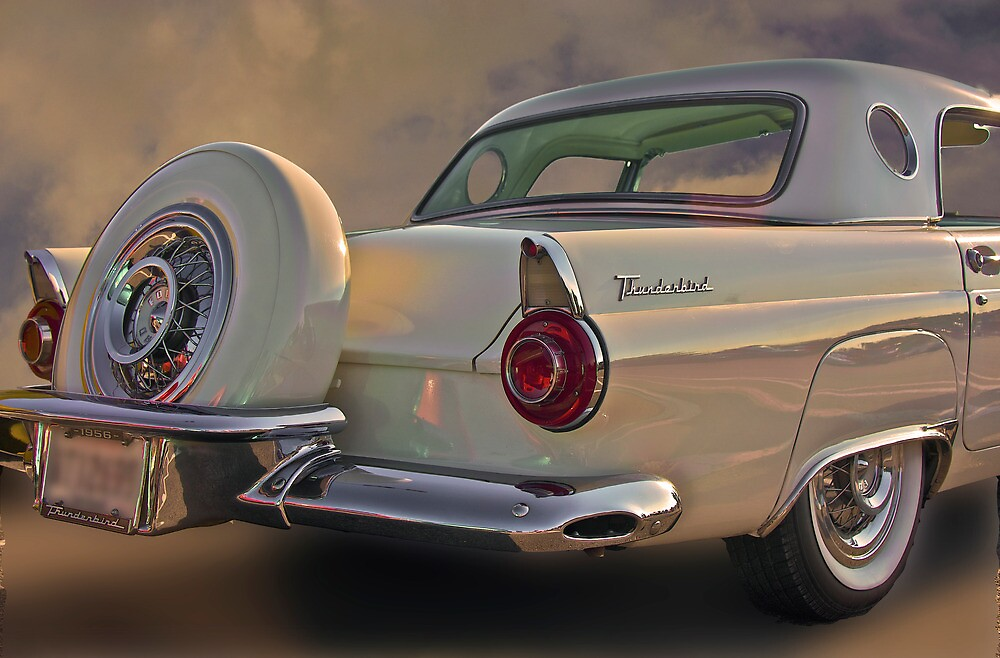 """1956 Thunderbird w/Continental Kit"" by Mike Capone ..."