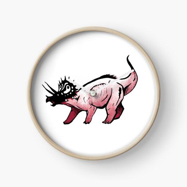 Graphic Triceratops Clock